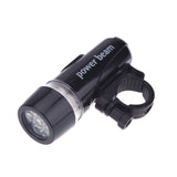 Bike Front Head Light + LED Rear Safety Flashlight