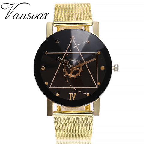 Casual Quartz Stainless Steel Band Marble Strap Watch