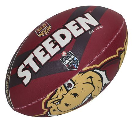 QLD Maroons Steeden Supporter Football - Small