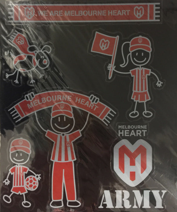 Melbourne Heart My Family Stickers