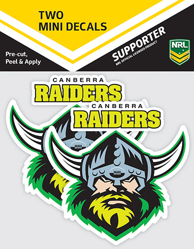Canberra Raiders Car Stickers Mini (2pk)