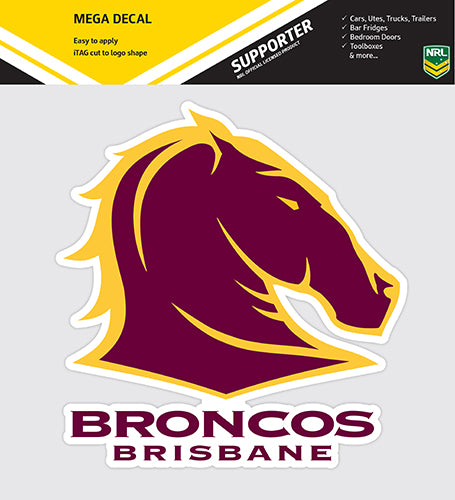Brisbane Broncos Car Logo Sticker - Mega