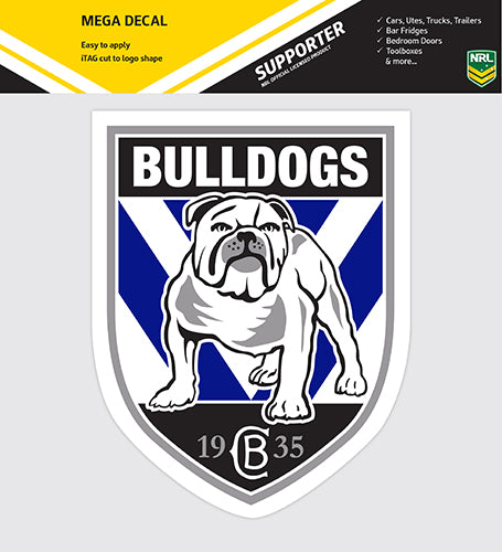 Canterbury Bulldogs Car Logo Sticker - Mega