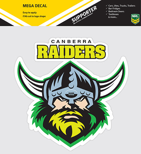 Canberra Raiders Car Logo Sticker - Mega