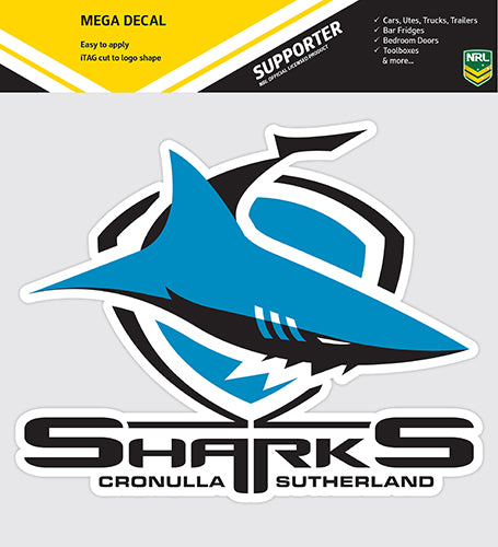 Cronulla Sharks Car Logo Sticker
