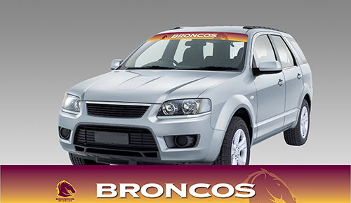 Brisbane Broncos Blockout Sun Visor Decal