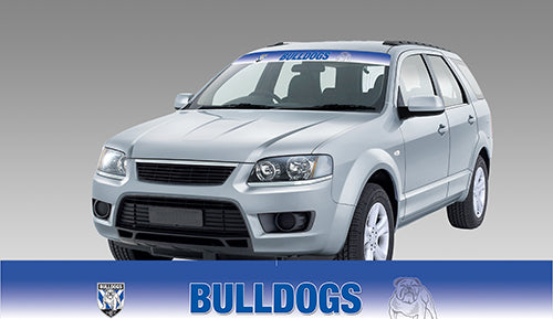 Canterbury Bulldogs Blockout Sun Visor Decal