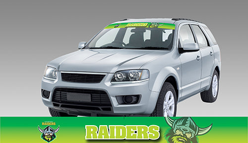 Canberra Raiders Blockout Sun Visor Decal