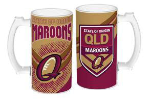QLD Maroons Frosted Glass Stein