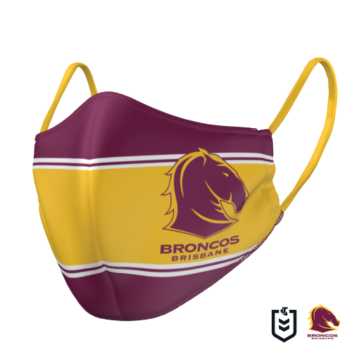 Brisbane Broncos Face Mask