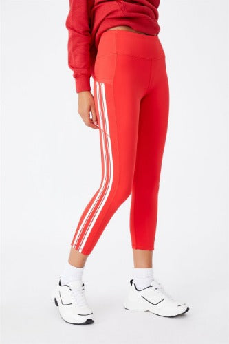 St George Illawarra Dragons Ladies Crop Leggings with Pockets