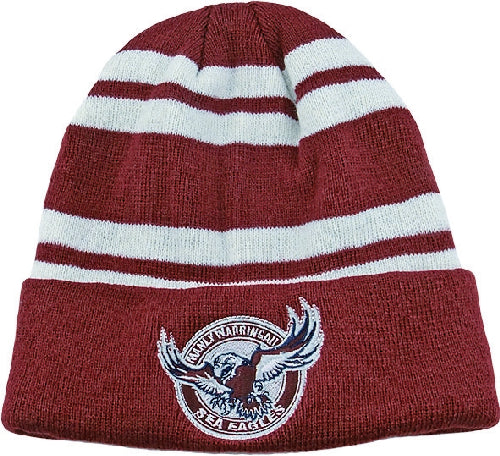 Manly Sea Eagles Beanie - Striped