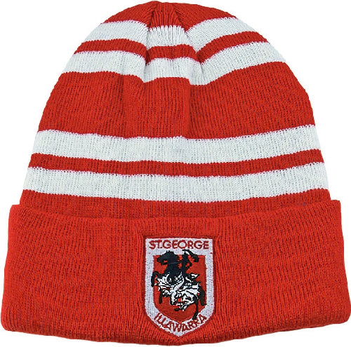 St George Illawarra Dragons Beanie - Striped