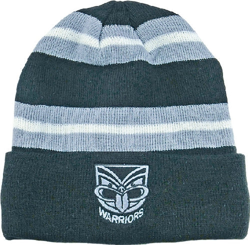 NZ Warriors Beanie - Striped