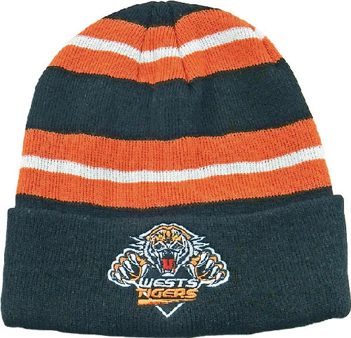 Wests Tigers Beanie - Striped