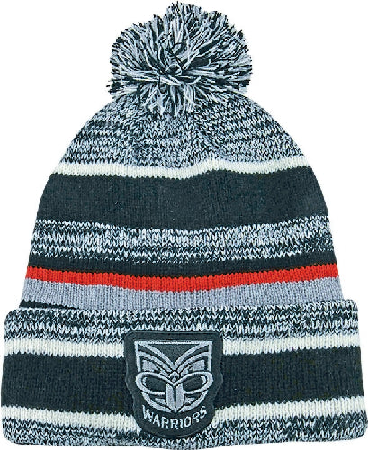NZ Warriors Beanie - Pom Pom