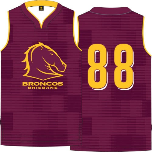 Brisbane Broncos Kids Basketball Singlet