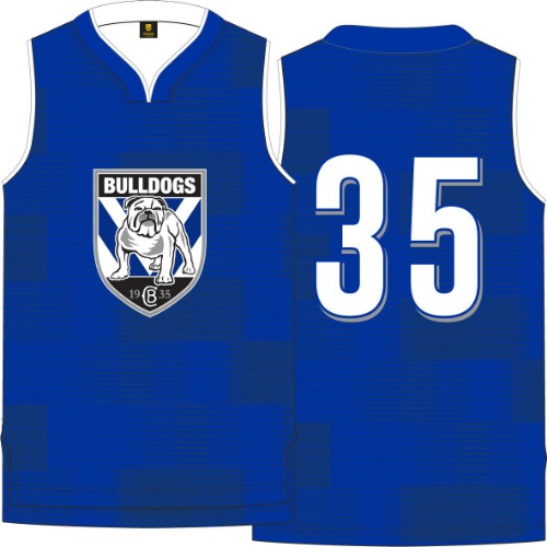 Canterbury Bulldogs Kids Basketball Singlet