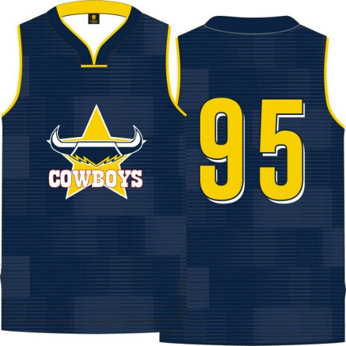 North Queensland Cowboys Kids Basketball Singlet