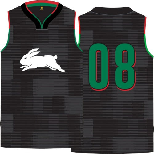 South Sydney Rabbitohs Mens Basketball Singlet