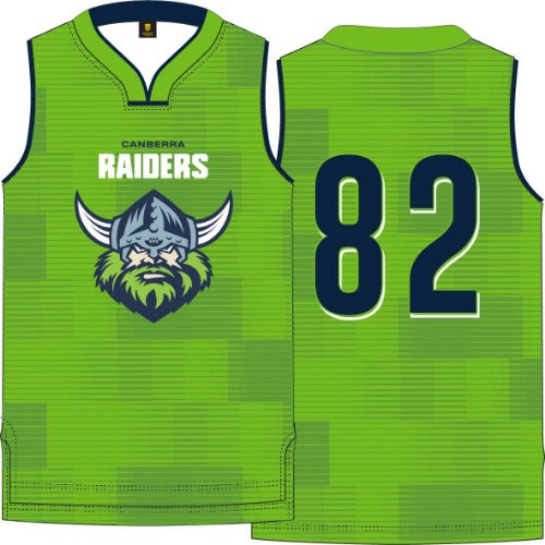 Canberra Raiders Mens Basketball Singlet