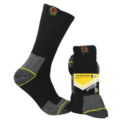 Brisbane Broncos Work Socks (2pk)