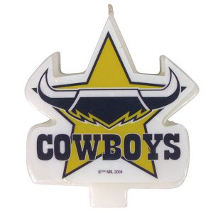 North Queensland Cowboys Logo Candle