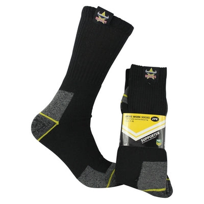 North Queensland Cowboys Work Socks (2pk)