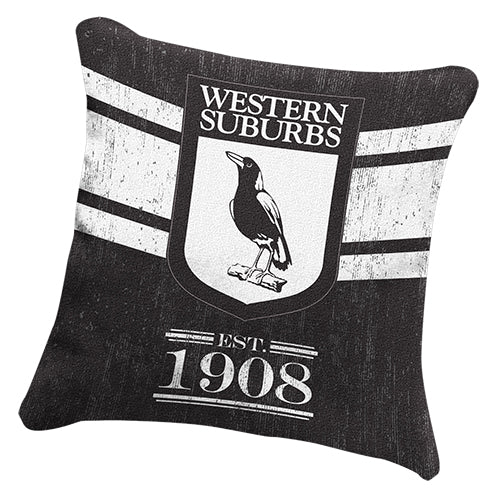 Western Suburbs Magpies Cushion - Heritage