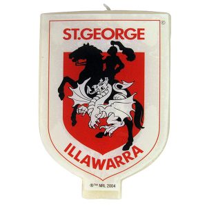 St George Illawarra Dragons Logo Candle