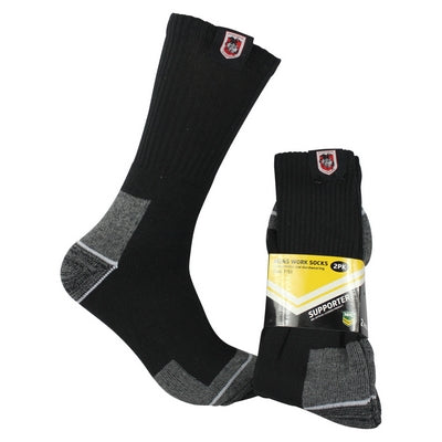 St George Illawarra Dragons Work Socks (2pk)