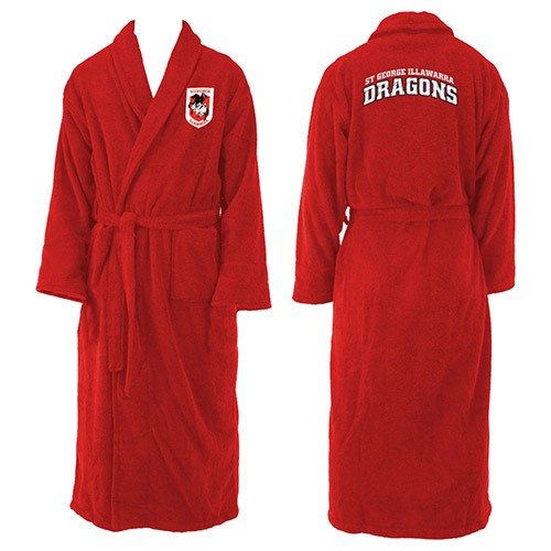 St George Illawarra Dragons Adults Dressing Gown