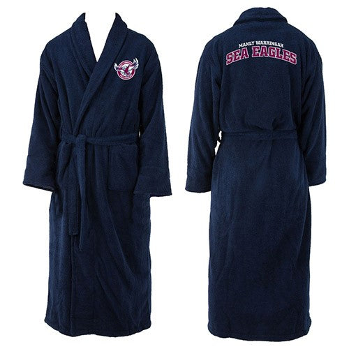 Manly Sea Eagles Adults Dressing Gown