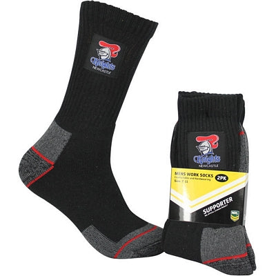 Newcastle Knights Work Socks (2pk)