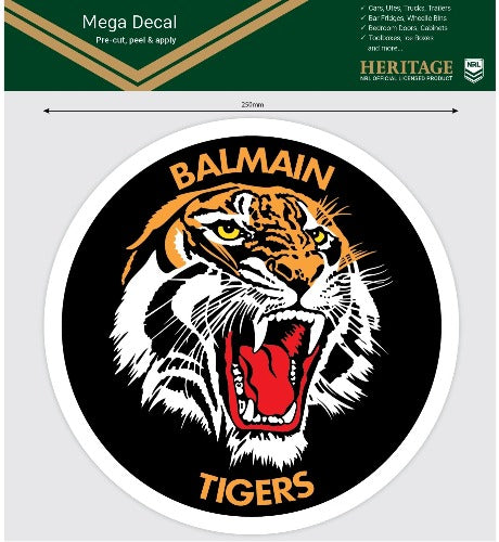 Balmain Tigers Heritage Car Logo Sticker - Mega