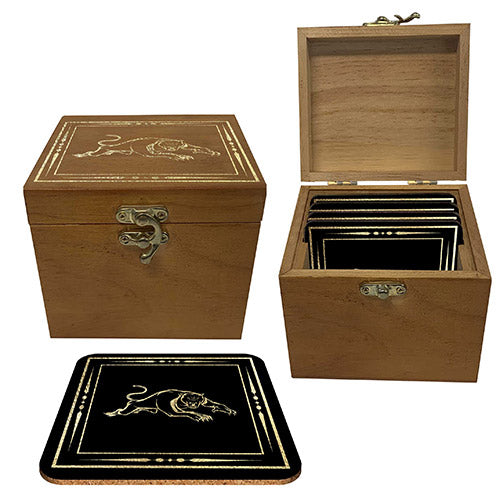 Penrith Panthers Wooden Boxed Coaster Set