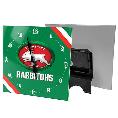 South Sydney Rabbitohs Mini Glass Clock