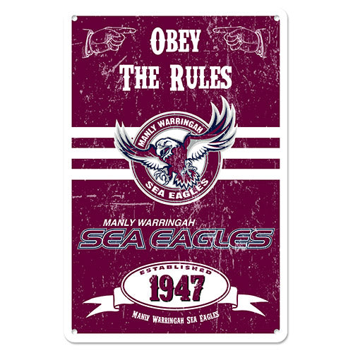 Manly Sea Eagles Retro Tin Sign