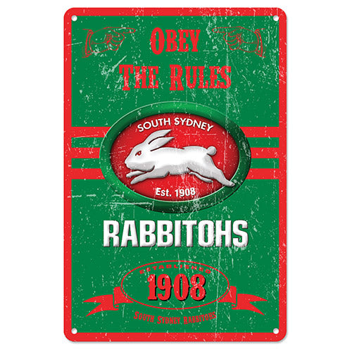 South Sydney Rabbitohs Retro Tin Sign