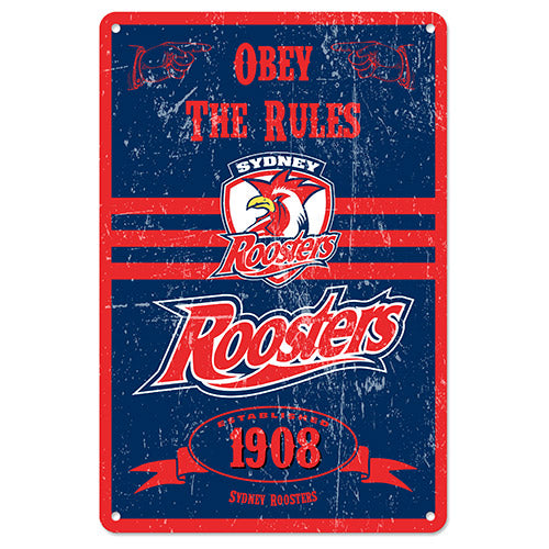 Sydney Roosters Retro Tin Sign