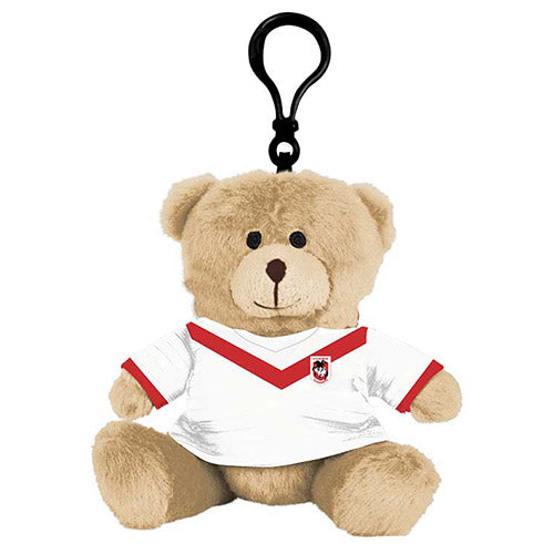 St George Illawarra Dragons Plush Teddy Bear Bag Tag