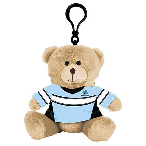 Cronulla Sharks Plush Teddy Bear Bag Tag