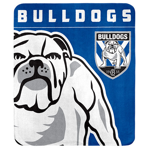 Canterbury Bulldogs Polar Fleece Throw Rug