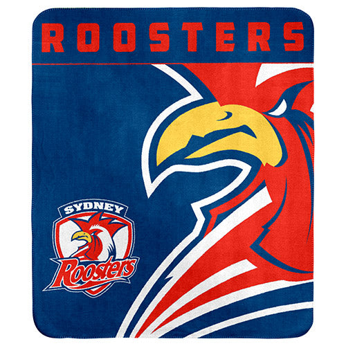 Sydney Roosters Polar Fleece Throw Rug