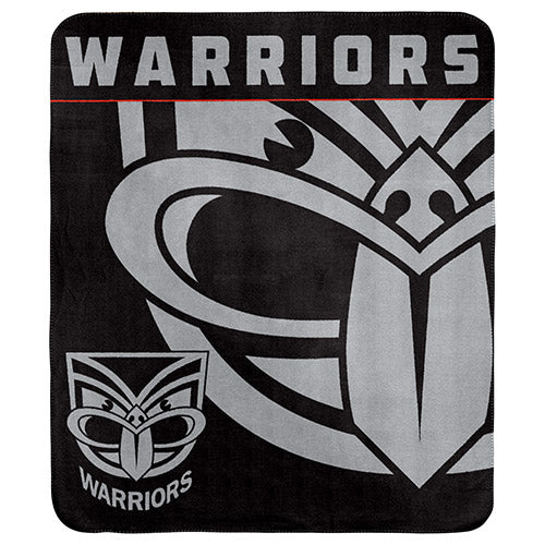 NZ Warriors Polar Fleece Throw Rug