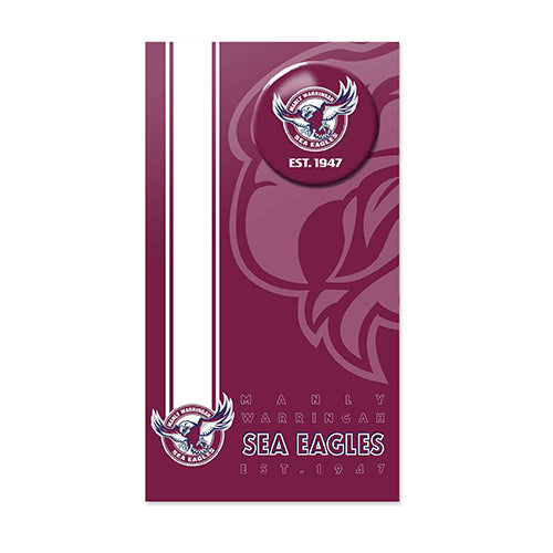 Manly Sea Eagles Birthday Card + Badge
