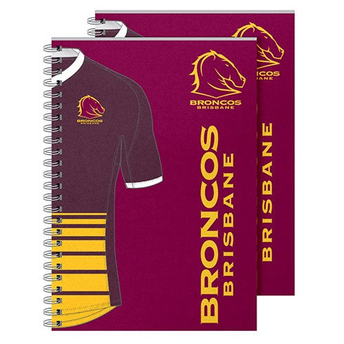 Brisbane Broncos Notebook (2pk)