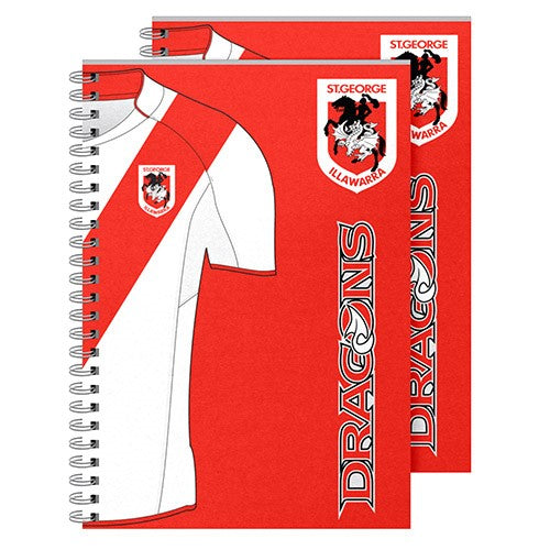 St George Illawarra Dragons Notebook (2pk)