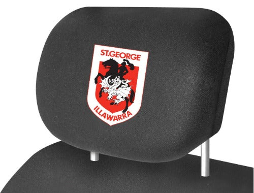 St George Illawarra Dragons Car Headrest Covers