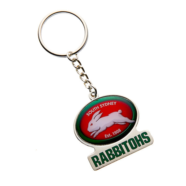 South Sydney Rabbitohs Keyring - Metal Logo